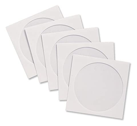 Compucessory CD Sleeve Envelopes Paper with Window W126xH126mm White Ref