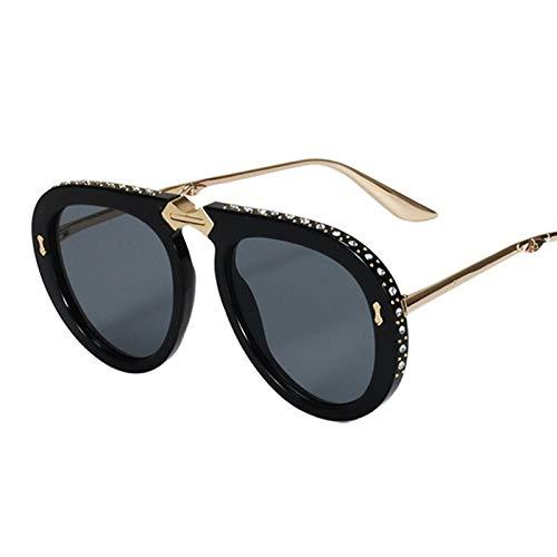 Taiyangcheng Polarisierte Sonnenbrille Vintage Folding Pilot Sonnenbrille Frauen Kristall Marke Oversize Klar Brillen Sonnenbrille Männer Shades,A1