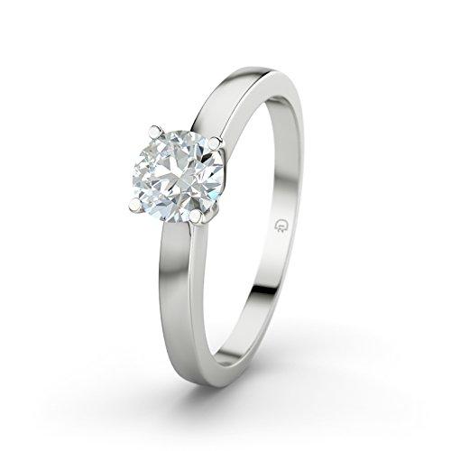 Damen-Ring Verlobungsring Arabella 21Premium mit Diamant SI2 0.45 Karat Brillantschliff, 18 Karat (750) Weißgold Gr.60 (19.1) Verlobungsringe, 21Diamonds