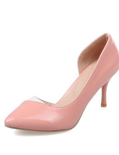 WSS 2016 Chaussures Femme-Bureau & Travail / Décontracté-Noir / Rose / Rouge / Blanc / Amande-Talon Aiguille-Talons / Bout Pointu-Talons-Cuir Verni red-us5 / eu35 / uk3 / cn34