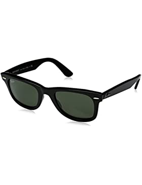 Ray-Ban Wayfarer 901, Gafas de Sol Unisex-Adulto, Black, 50