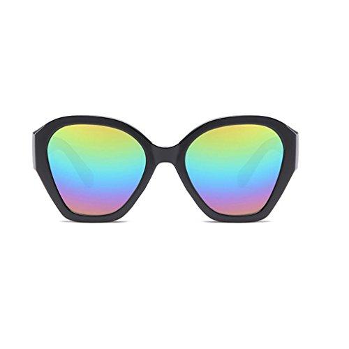 RLJJSH Sonnenbrillen farbige unregelmäßige Brillengestell Trend Bunte Sonnenbrillen Rahmenmaterial PC Sonnenbrillen Sonnenbrille (Farbe : Five Colors, größe : One Size)