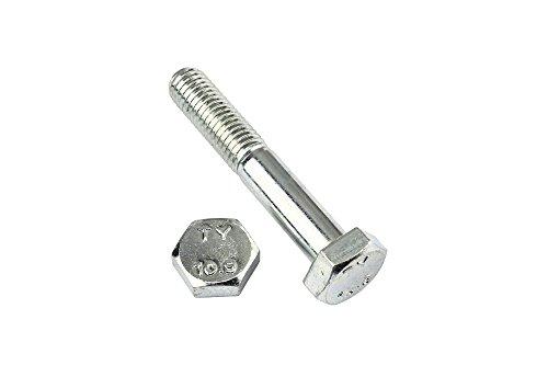 2 Stk Sechskantschraube mit Schaft - DIN 931 10.9 M14 x 150 verzinkt (M14 Schraube)