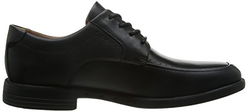 Clarks - Unbizley View, Scarpe stringate Uomo Nero (Black Leather)