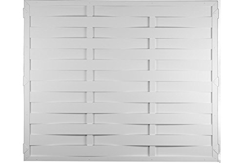 Lamellenzaun Kunststoff weiß 180 x 150 cm (Serie Juist)