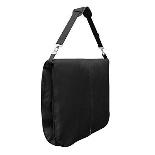 Carrier Schwarz Kleidersäcke (Hangerworld - Wasserabweisender Reise Kleidersack aus Nylon mit Schultergurt - Schwarz - 112cm)