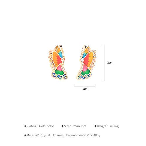 Multi Schmetterling Butter Ohrstecker Kristall Modeschmuck Ohrringe ()