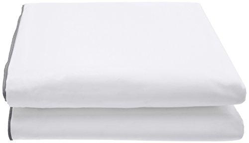 Designers Guild Sábana de percal de Algodón, Modelo Astor, percal de Algodón, Grafito, 270 x 300 cm