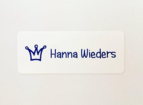 50 MDS Labels© Namensaufkleber Glossy HERZERFRISCHEND FRÖHLICH (Spülmaschinenfest, BPA-frei)
