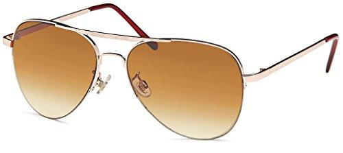 Pilotenbrille Sonnenbrille 70er Jahre Herren & Damen Sunglasses -