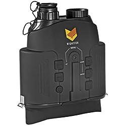 Nightfox 110R - Prismáticos de visión Nocturna con Pantalla panorámica | Infrarrojo Digital | Rango de 150 m | Función de grabación