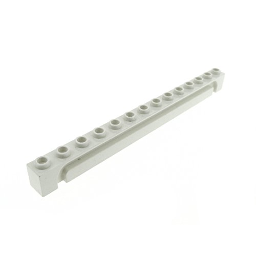 Preisvergleich Produktbild 1 x Lego System Führungsschiene creme weiss 1x14 Rolltor Stein Nut Führung Garagen Tor 4217