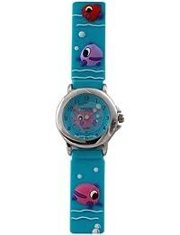Trendy Kiddy - KL42 - Montre Mixte - Quartz Analogique - Cadran Multicolore - Bracelet Plastique Bleu