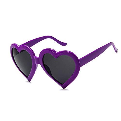 Yangjing-hl Kreative Liebe Sonnenbrille Modetrend Pfirsich Herz Sonnenbrille Sonnenbrille lila schwarzer Film