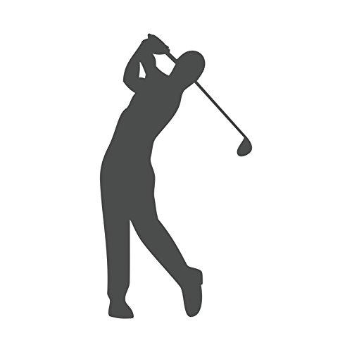 Golfspieler Aufkleber Golfer Golf Sport Autoaufkleber 12 cm (Dunkelgrau)