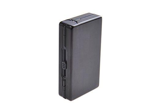 Quantum Abacus Portasigarette automatico di alluminio, eleganza moderna, per 10 sigarette, Mod. 490-01 (DE)
