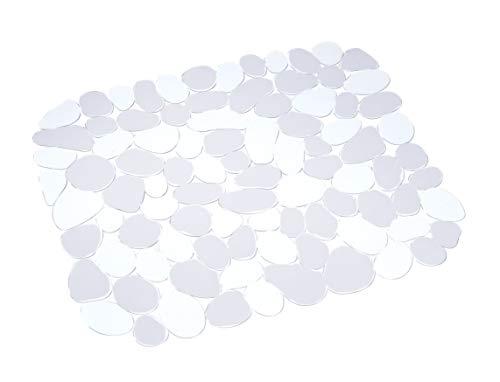 WENKO 2003010100 Spülbeckeneinlage Stone Transparent, Kunststoff, Transparent (Die Spüle Gummi-matte Für)