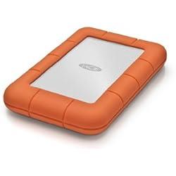 """LaCie 2 TB Rugged Mini USB 3.0 Portable 2.5"""" , Disque dur externe pour PC et Mac, Résistant aux chocs, chutes et à la pression (LAC9000298)"""