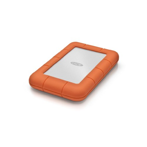 Lacie LAC9000298 Externe Tragbare Festplatte, Rugged Mini 2 TB, Orange