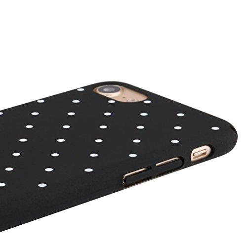 Cover per iPhone 7, Tpulling Custodia per iPhone 7 Case Cover Per IPhone 7 4.7 pollici Slim Shockproof Polka Dot Case Cover (Black) Black
