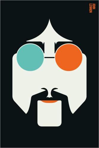 Posterlounge Holzbild 60 x 90 cm: John Lennon von BO Lundberg