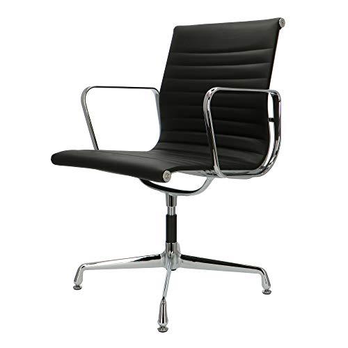 Popfurniture POP Designer Bürostuhl - Chefsessel, Schreibtischstuhl - Höhenverstellung - skai | Schwarz | EA108