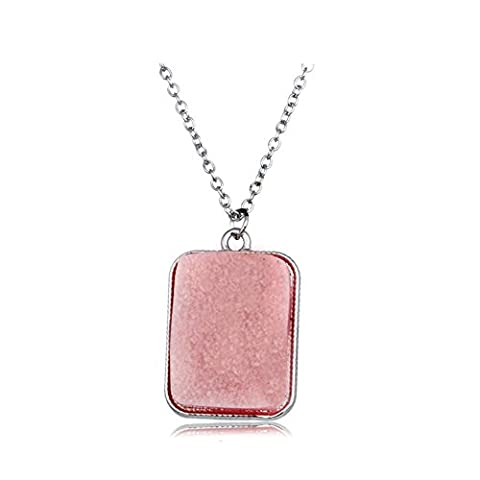 Z-P Fancy Dress Party Dull Polish Rectangular Pendant Glow At Night Crystal Pendant Necklace