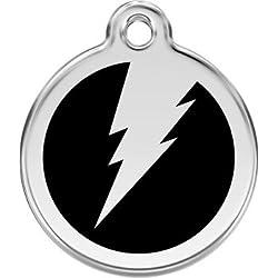Médaille pour moyen chien Red Dingo modèle FLACH - 11 couleurs disponibles - GRAVURE OFFERTE