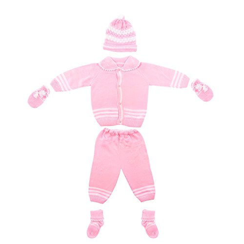 Baby Bucket Woolen Sweater 5 Piece Set