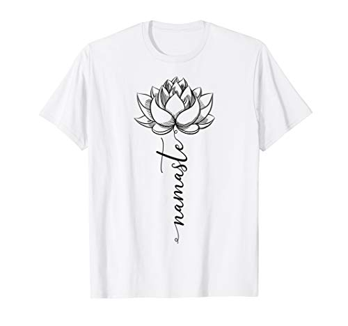 Namaste Lotus T-Shirt Blüten Yoga Meditation Geschenkidee