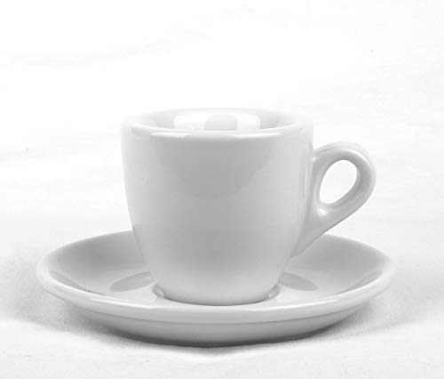Nuova Point Espressotassen, Espressotasse PALERMO B18, B 18 weiß 6 Stück O/U wie ACF