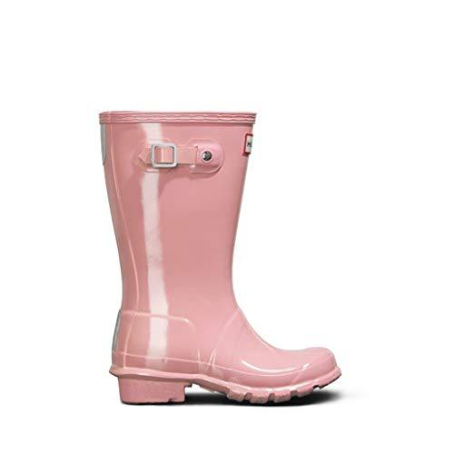 hunter Original Kids Gloss Wellington Boots in Candy Floss