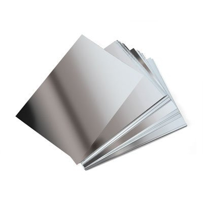 5 sheets of A5 silver mirror Board Card. PP65