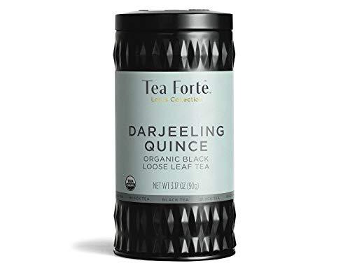 NEW Tea Forte Lotus Loose Leaf Tea Canister - Darjeeling Quince, 2.82 oz by N/A (Leaf Canister)