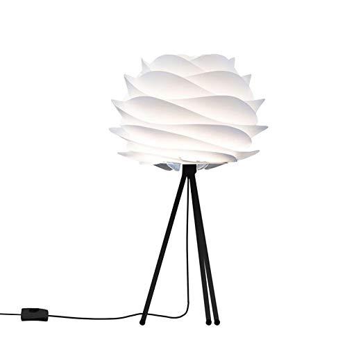 Carmina - Lámpara de mesa color blanco/tripode negro ø32 cm ...
