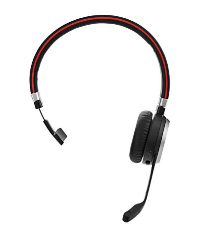 Jabra Evolve 65 Mono UC Wireless-Bluetooth-Headset für PC/Smartphone/Tablet, telefonieren und Musik hören, für Unify Communications optimiert Gn Jabra Headset-adapter