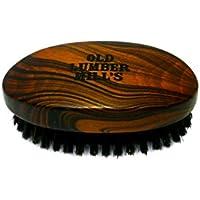 Old Lumber Mill S Beard Brush | SPAZZOLA DA BARBA IN LEGNO NATURALE | 100% setole di cinghiale | in forma di militari Brush