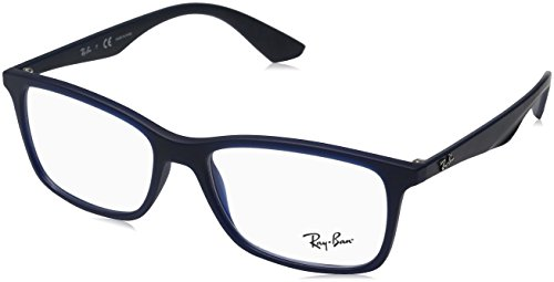 Ray-Ban Herren rx7047 Brille in mattem  transparent RX7047 5450 Blau - 54