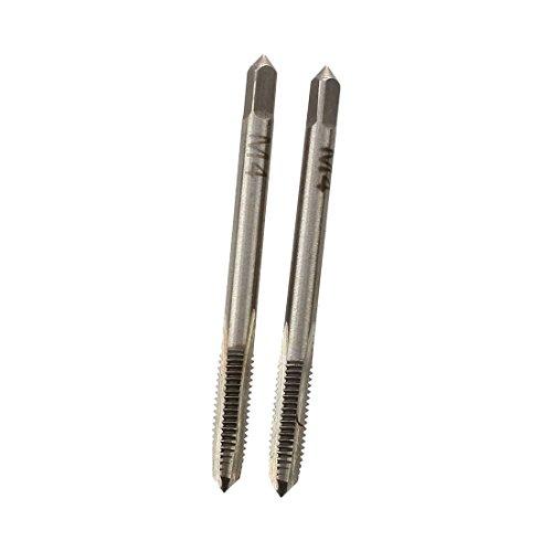 TOOGOO(R)2 Stk. Metall 4mm M4 Schraubgewinde metrische Stoepsel Gewindebohrer Handwerkzeug
