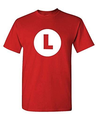 Luigi - Video Game Costume Halloween Funny - Mens Cotton T-Shirt XXXL (Fliegende Affen Kostüm)