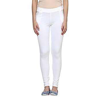 Softwear Women's Lycra White 4 Pocket Jeggings - XX-Large