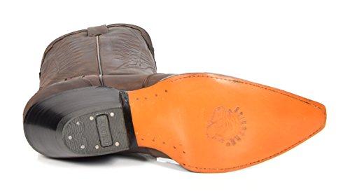 House of Luggage Bottes de Cowboy en Cuir Véritable Pour Homme Talon Western Longueur du Mollet Chaussures HLG0AR Marron