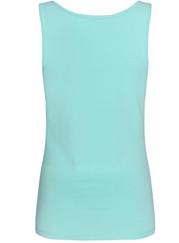 oodji Collection Femme Débardeur Basique Turquoise (7301N)