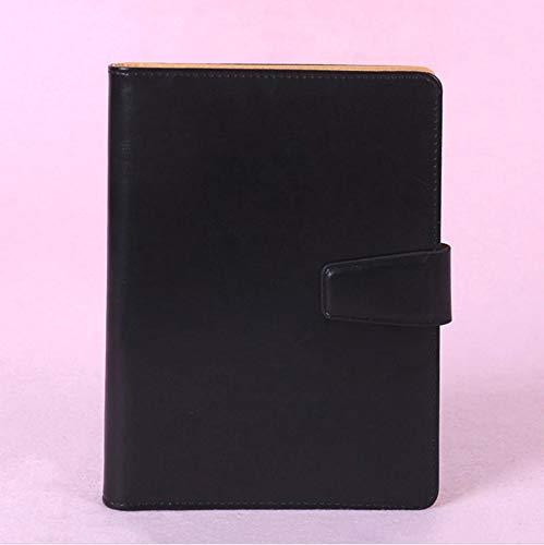 Hapyshop Retro Notebook Dicken Papier,Tagebuch Buch A5 Notizbuch Premium,Wöchentlich Plan Schreiben Notebooks Büro Schule Liefert Schwarz