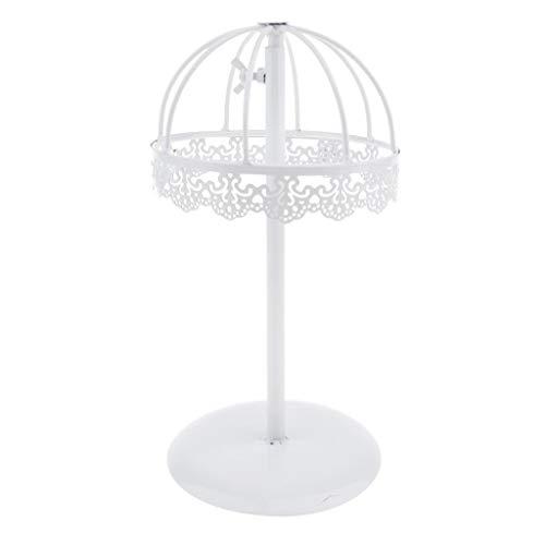 Sharplace Support de Perruque Chapeau Cheveux Stand Affichage Plastique - Blanc
