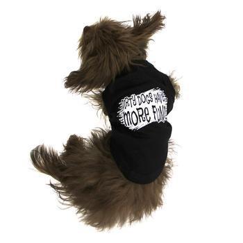 Mirage Pet Products Schmutzige Hunde Screen Print Shirt Black XXXL (20) -