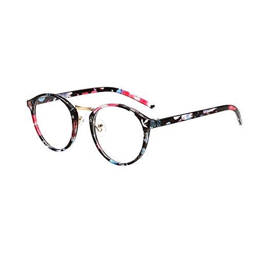 Dorical Damen Brille, Frauen Mode Unisex Klassisch Metall Rahmen Spiegel Gerundet Gläser Sale(A) (Versace Herren Gold Brille)