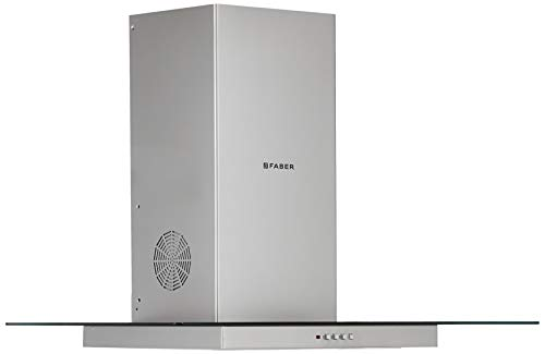 Faber 90 Cm 1095 M3/Hr Chimney (Hood Glassy 3D T2S2 Ltw 90, 2 Baffle Filters, Stainless Steel)