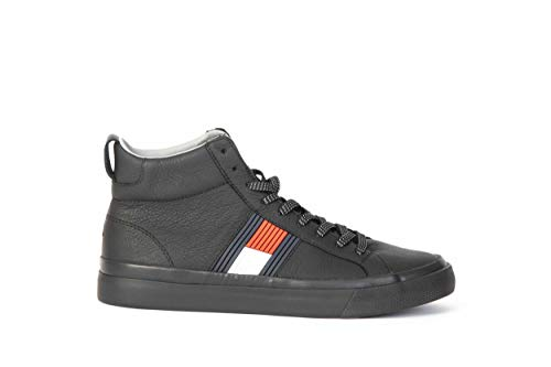 Tommy hilfiger sneaker nera fm0fm01713 nero, 45