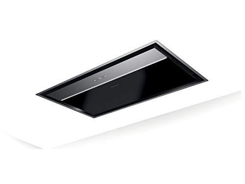 Faber ONYX-C - Campana extractora de techo (cristal negro y acero inoxidable,...